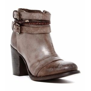 Freebird by Lion Brown Leather Ankle Boots